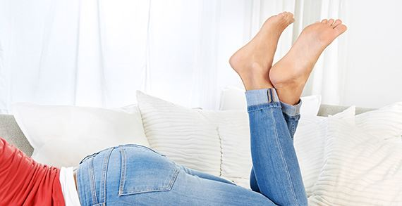 Woman feet without blisters