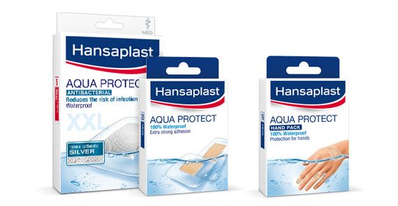 Hansaplast products that protect against water