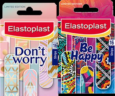 Don't Worry Be Happy Elastoplast coloured plasters