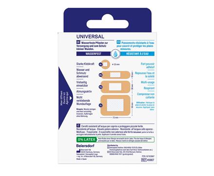 Hansaplast Universal Strips Rückseite