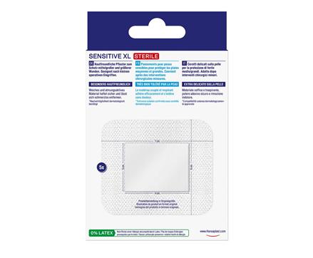 Hansaplast Sensitive XL Rückseite