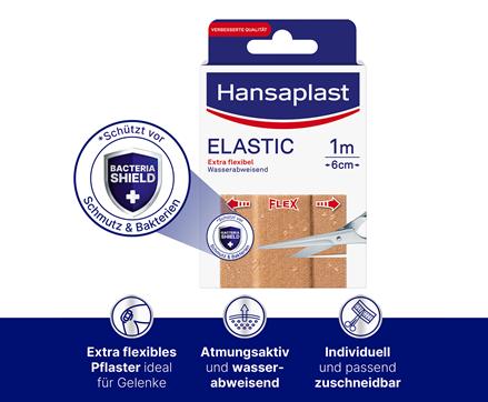 Hansaplast Elastic Pflaster Bacteria Shield
