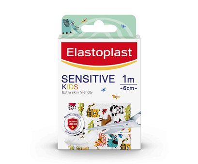 packshot of Elastoplast Kids Sensitive Plaster Dressing