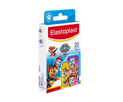 Packshot of Elastoplast PAW Patrol side