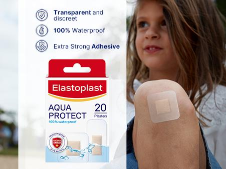 Elastoplast Aqua Protect plasters key benefits