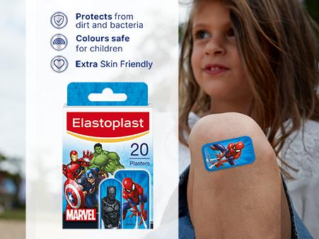 Elastoplast MARVEL plasters key benefits