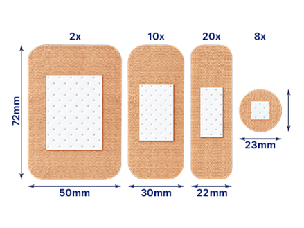 Elastoplast Fabric 40 plasters out of pack